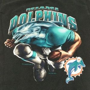Miami Dolphins T-shirt by Lee Sport Size Medium